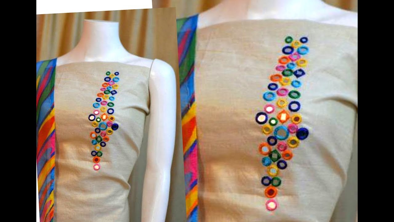 Simple Hand Embroidery Blouse Designs